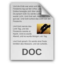 German Text Document Icon